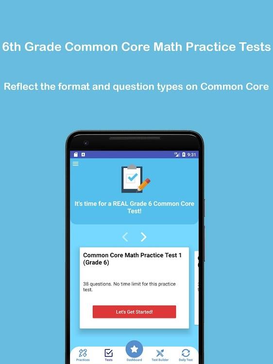 Grade 6 Common Core Math Test & Practice 2019 – (Android Aplikace