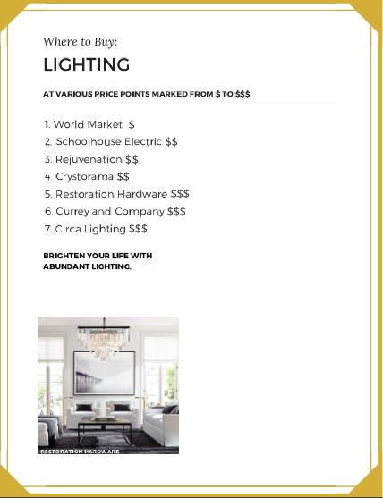 Free home shopping guide with where to shop for home decor