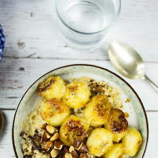 Tahini Oatmeal with Caramelised Bananas Recipe
