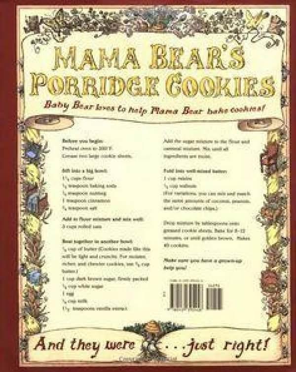 Mama Bear's Porridge (oatmeal) Cookies