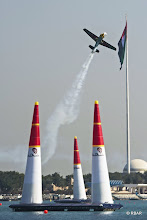 Photo: Kirby Chambliss of the United States of America performs during the training session for the first stage of the Red Bull Air Race World Championship in Abu Dhabi, United Arab Emirates on February 27, 2014. // Sebastian Marko/Red Bull Content Pool // P-20140227-00136 // Usage for editorial use only // Please go to www.redbullcontentpool.com for further information. //