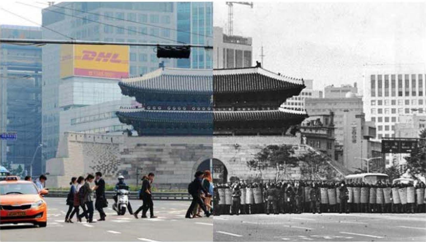 Bangunan Kota Seoul 2017 dan 1987