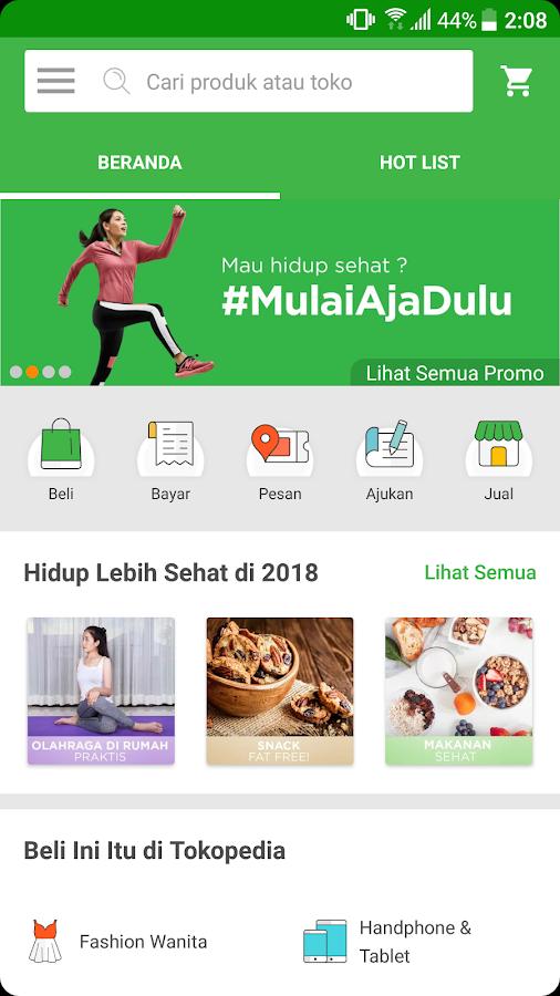 Tokopedia Online Shopping Mobile Recharge Screenshot