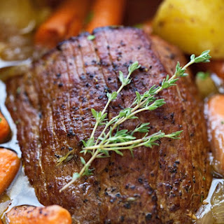 Pot Roast with Carrots and Potatoes.