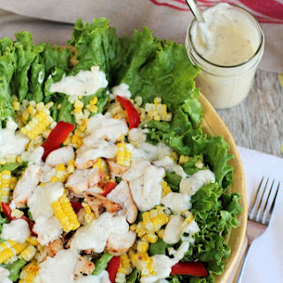 Grilled Chicken and Sweet Corn Salad with Help from Little Foodie