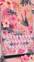 screenshot of Summer Floral Keyboard Theme