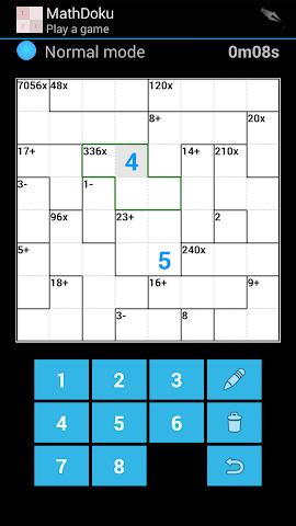 android Math DoKu Pro 2016 Screenshot 1