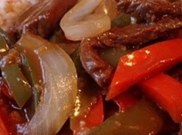 Serve beef and peppers and onions over egg noodles or rice if you prefer....