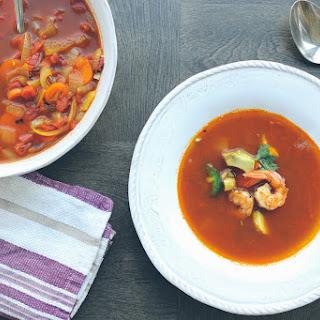 Spicy Tortilla Shrimp Soup.