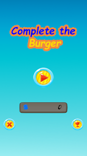 Complete the Burger - náhled