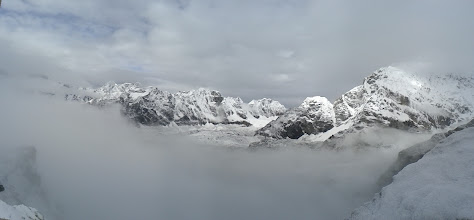 Photo: The view when the clouds broke on Kala Patthar