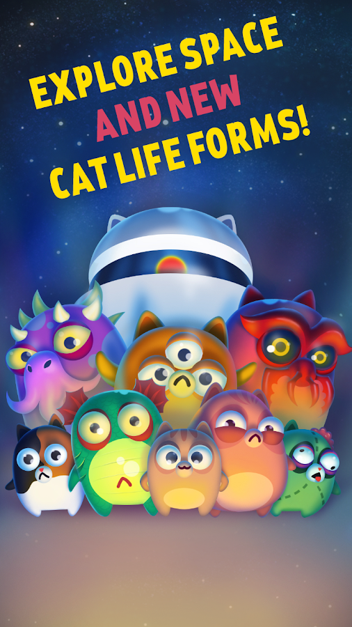 Space Cat Evolution: Kitty collecting in galaxy- screenshot