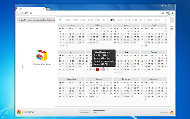2010 november naptár Calendar and Countdown   Chrome Web Store 2010 november naptár