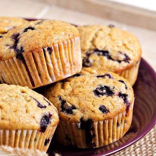 Jumbo Blueberry Oat Muffins.