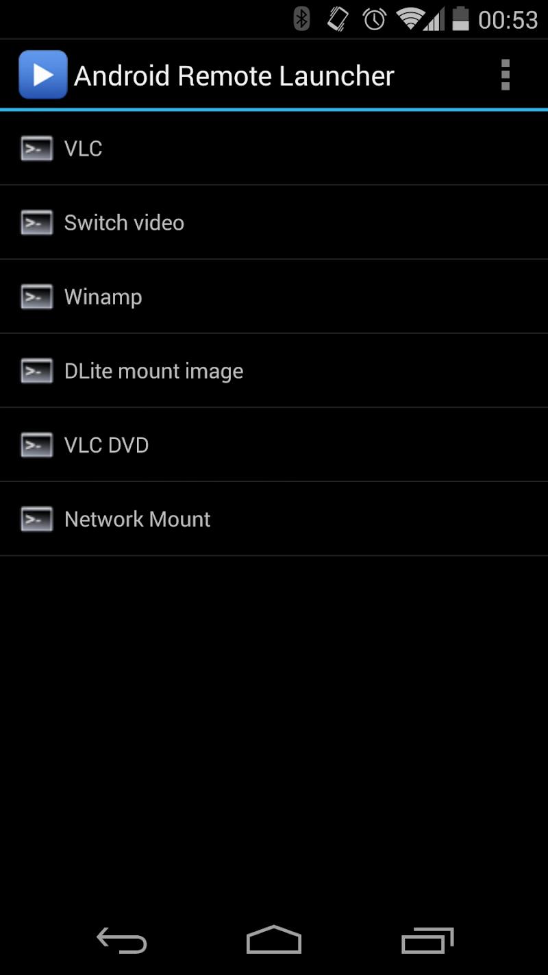 Скриншот Remote Launcher