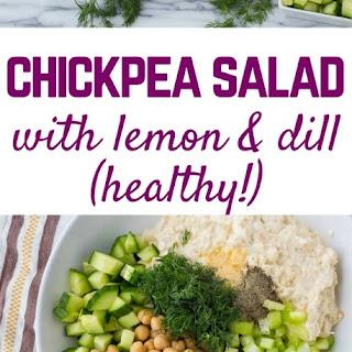 Chickpea Salad Recipe with Yogurt, Dill and Lemon Recipe