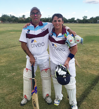 Father and son Terry and Aaron Baker blasted 244 together against competition leaders Crossroads Hotel on Saturday.