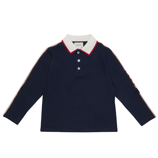 Thumbnail images of Gucci Logo Tape Polo Shirt