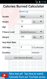 Calories Burned Calculator - Android Apps on Google Play
