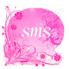 Pink Flowers Theme GO SMS Pro icon