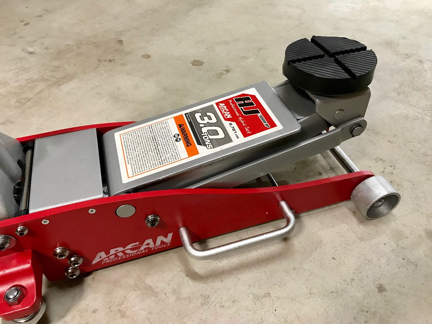 ARCAN 3.0 TON STEEL/ALUMINUM HYBRID JACK (HJ3000JP)