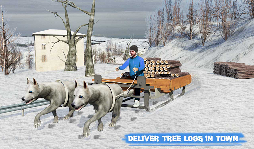 Snow Dog Sledding Transport Games: Winter Sports 1.4 screenshots 14