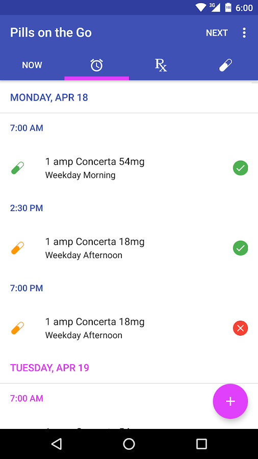 Pills on the Go - Free- screenshot