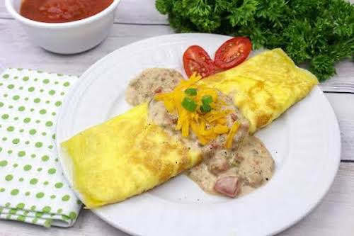 "Spicy Brunch Omelet""Amazing flavor!! I have always loved Ro-tel dip and decided..."