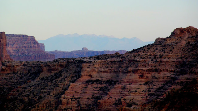La Sal Mountains 90 miles distant