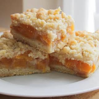 Peach Crumb Bars.