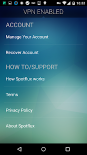 Spotflux VPN- screenshot thumbnail