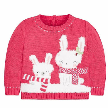 Mothercare 聖誕雪兔冷衫
