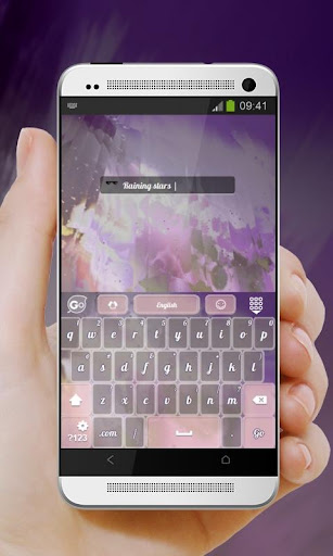 玩免費個人化APP|下載星の雨が降ります GO Keyboard app不用錢|硬是要APP