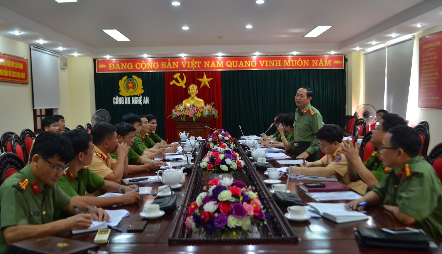 Đại tá Nguyễn Tiến Dần, Phó Giám đốc Công an tỉnh phát biểu