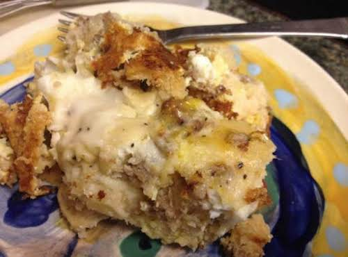 "Biscuits & Gravy Breakfast Casserole ""This was awsome! Now a favorite with..."