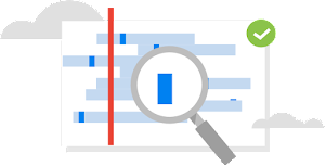 Logotipo de descubre y clasifica los datos sensibles