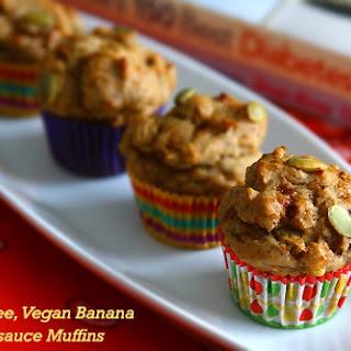 Gluten-Free Vegan Banana Applesauce Muffins