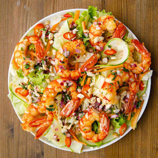 Vietnamese Shrimp Salad with the Best Asian Dressing.