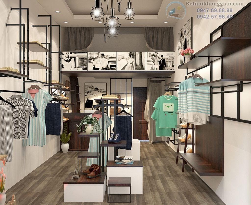 kiến trúc sư thiết kế shop thời trang hoài cổ, lạ mắt