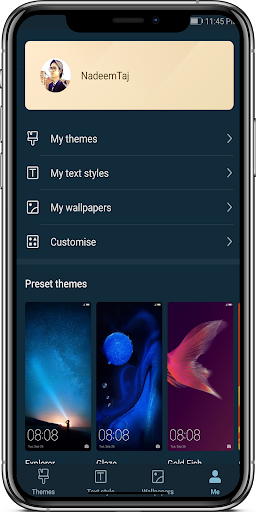 Screenshot for Emui9 Dark Theme For Emui 5/8 in United States Play Store