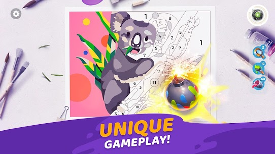 Gallery: Coloring Book by Number MOD APK [Unlimited Boosters] 6