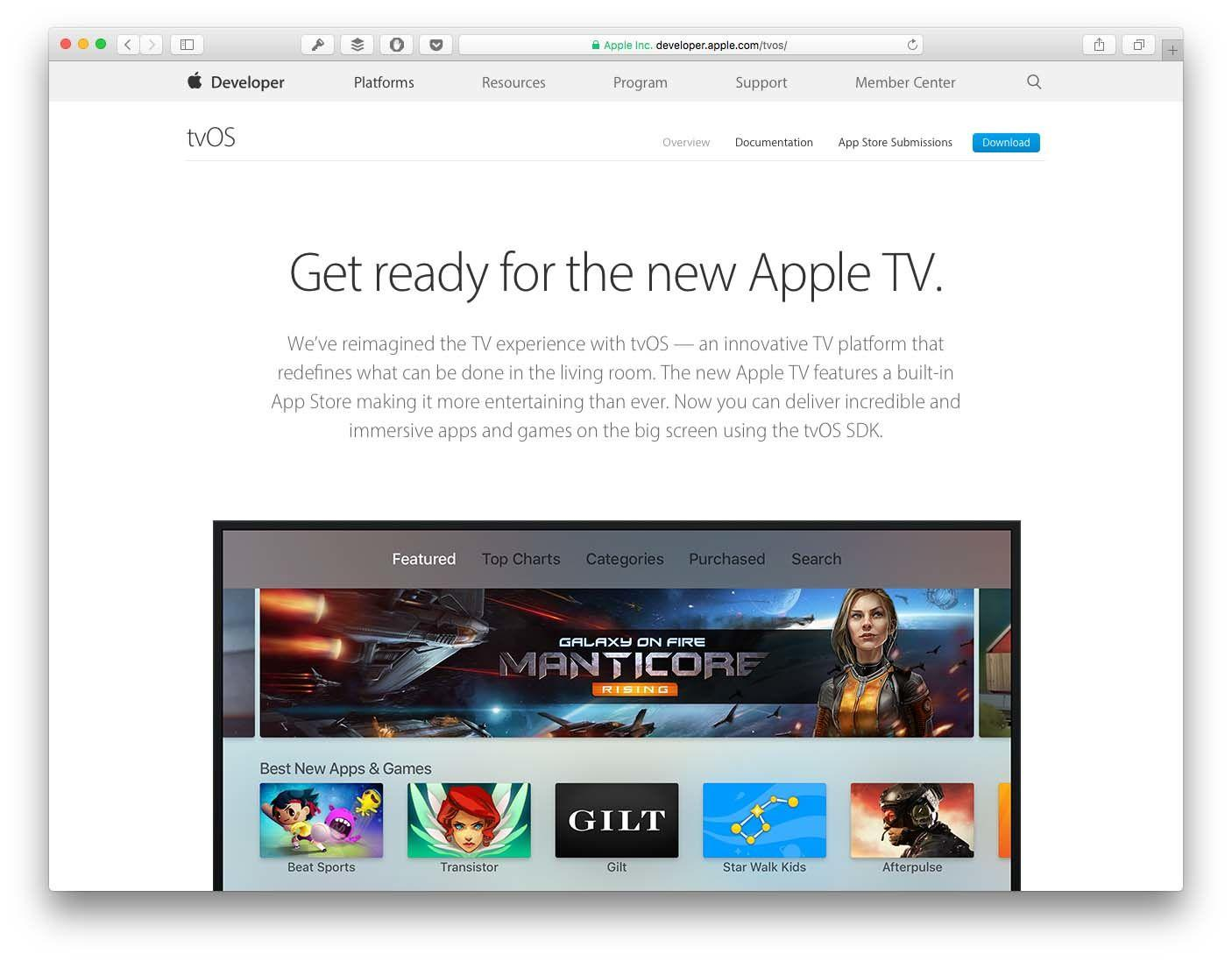 Developing apps for TVOS with Swift