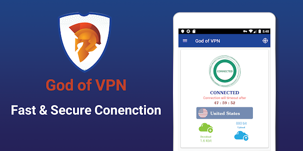 أفضل VPN مجاني – VPN سريع وآمن، God VPN 5