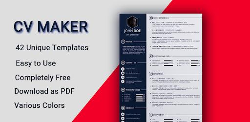 Curriculum Vitae App Cv Builder Resume Cv Maker On Windows Pc