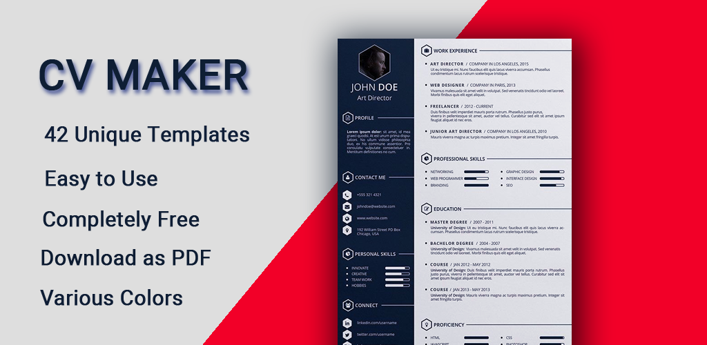 Curriculum Vitae App Cv Builder Free Resume Maker 4 0 Apk Download