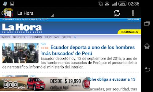 Noticias de Ecuador screenshot 1