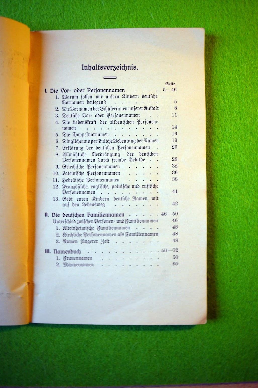 Vornamenbuch von 1912
