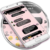 SMS Messages Bow Pink Pastel Theme