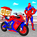 Pizza Delivery Robot Moto Bike Transport Game 2021 icon