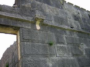 Photo: Andriake, facade of Hadrina's Granary, detail .......... Voorgevel van de Graanopslagruimte van Hadrianus, detail.